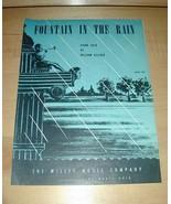 Fountain in the Rain -Piano Solo by William Gillock Sheet Music 1940 - $19.76