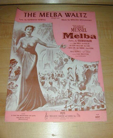 The Melba Waltz (Dream Time) -Piano sheet music