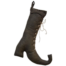Country STUFFED WITCH BOOT Rustic Fall Autumn Primitive Thanksgiving Hal... - $38.99
