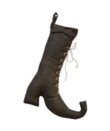 Country STUFFED WITCH BOOT Rustic Fall Autumn Primitive Thanksgiving Hal... - £29.87 GBP