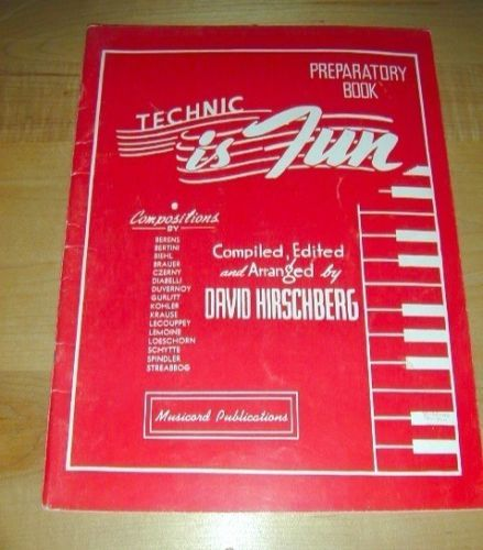 1948 Technic is Fun-Preparatory Book-sheet music 45 pgs