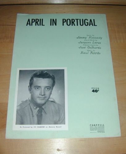 April in Portugal by Vic Damone sheet music-1947