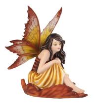 Fairy Sitting On Leaf Statue Fairyland Legend Ada En Una Oja Pensando - $23.27