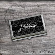 Stylish black Card holder case, office desk accessory gift , best steel ... - $16.99