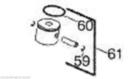 OEM New Husqvarna Craftsman Red Max 545081814, 545 08 18-14 Piston Kit Assy - $33.99