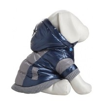 Dog Winter Jacket Puppy Ski Coat Pet Blue Vintage Hood Warm Outerwear Cl... - $43.93