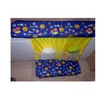 Baby Bath Shower Set 3 Piece Knee Cushion Mesh Toy Bag Shampoo Storage A... - £39.64 GBP