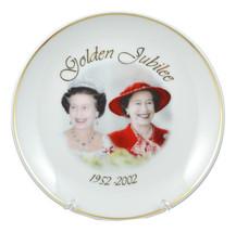 1952-2002 Queen Elizabeth II Golden Jubilee Commemorative Plate in Box - £12.80 GBP