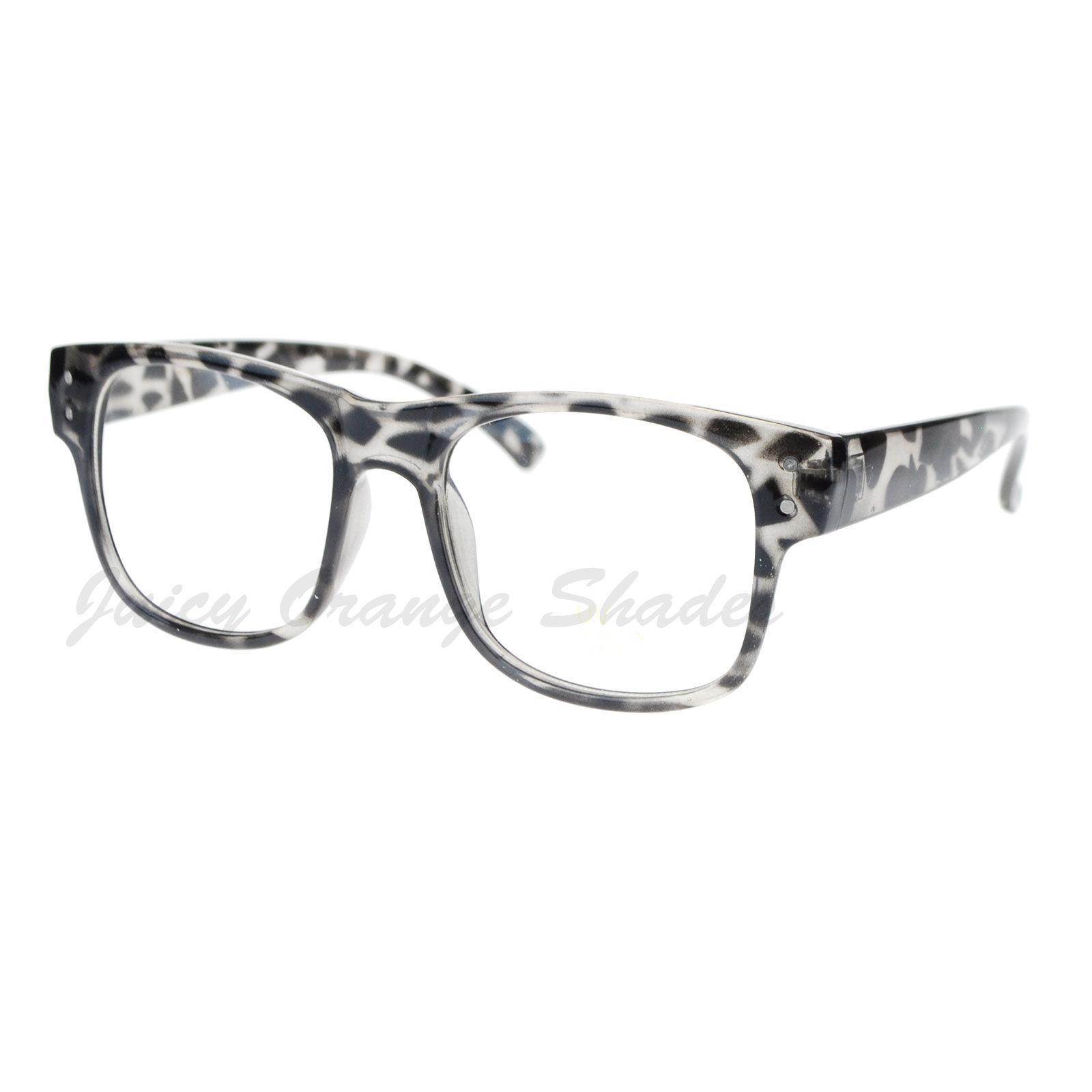 Square Frame Clear Lens Eyeglasses Nerdy Fashion Glasses