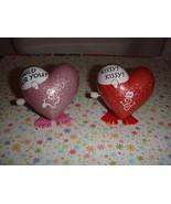 Hallmark Vintage Wind Up Walking Red & Pink Hearts - $24.99