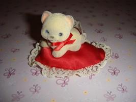 Hallmark 1983 Vintage Merry Miniature Valentine Cat On Pillow - $44.99