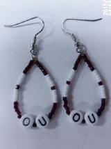 "Native American Beaded Earrings 1.5"" Dangle Hoo... - $19.99"