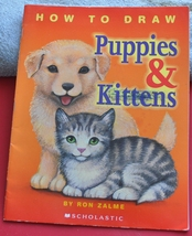 Learning to Draw Instruction Book - How to Draw Puppies & Kittens (cats & dogs) - $2.50