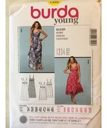BURDA 7555 EASY Sewing Pattern for Sleeveless Dress UNCUT Misses Sizes 8-20 - $7.99