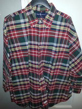 1990's Polo Ralph Lauren Multi colored oxford XLarge - $66.71 CAD