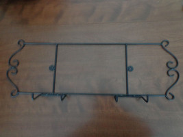 Black Metal Hanging Plate Rack - $12.50