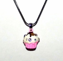 Cute Multi Color Girls Swarovski Crystal Sprinkle Topping Pink Cup Cake Necklace - $5.97