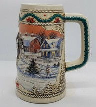 Authentic Budweiser American Homestead 1996 Holiday Stein Free Shipping - $21.59