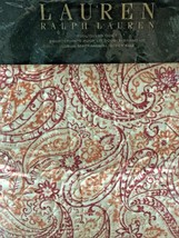 "Ralph Lauren Naomi Red & Orange Paisley Full / Queen Quilt 90"" x 90""  NEW - $115.00"