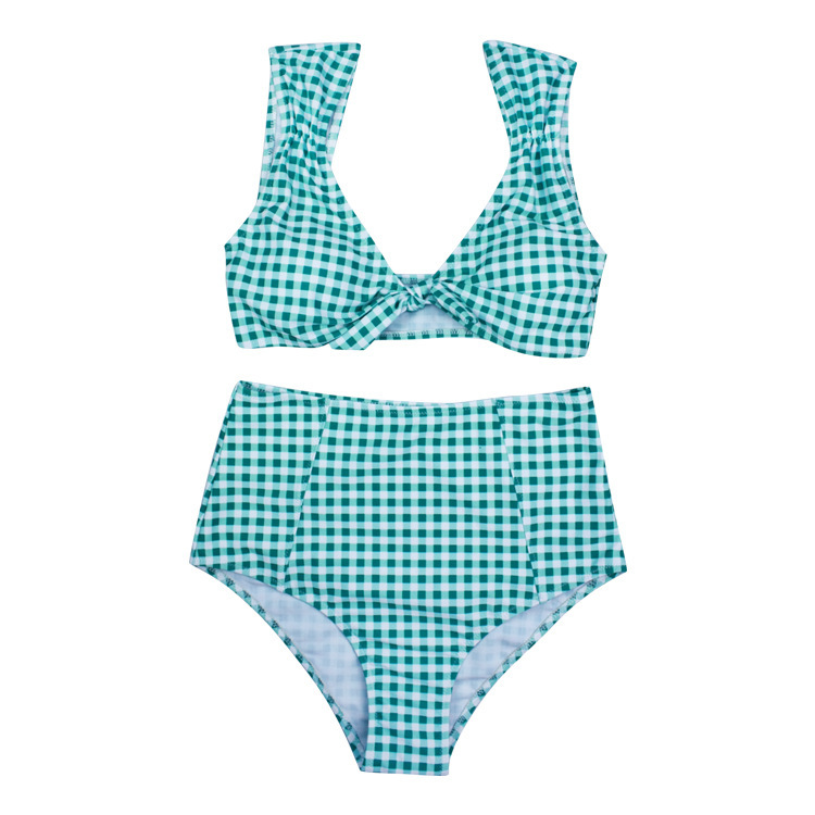 Women's Vintage Elegant Bowknot Two Pieces Bikini Set