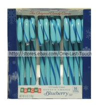 Brach's* 12pc Candy Canes Blueberry 5.7oz Holiday Box Santa's Choice Exp. 7/21 - $3.99