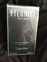 Calvin Klein Eternity Eau De Toilette EDT Men's Spray 3.4oz - $23.19
