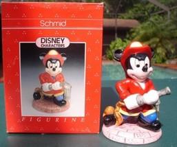 Disney Mickey Mouse Fireman Schmid porcelain Figurine - $69.99