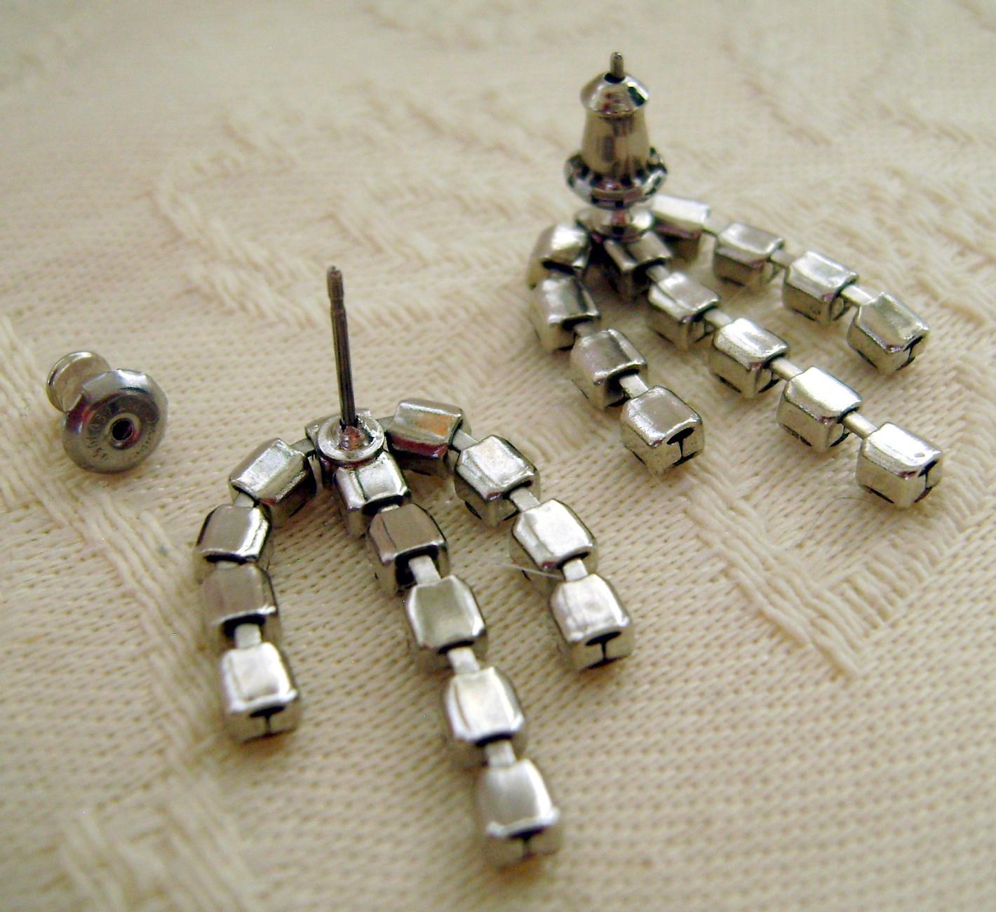 Earrings, Rhinestone, Post