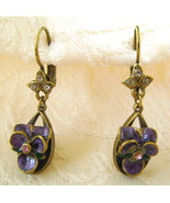 Earrings, Sweet Romance, Violetta, Pierced French Hooks - $27.00