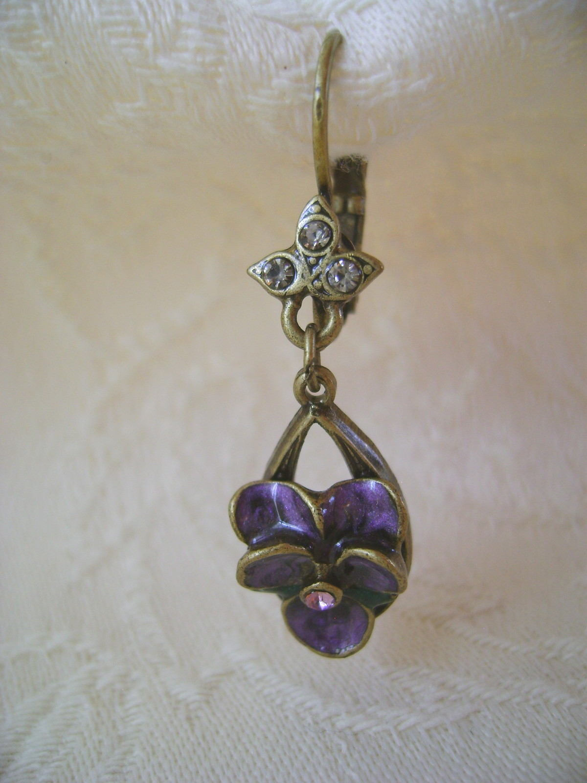 Earrings, Sweet Romance, Violetta, Pierced French Hooks