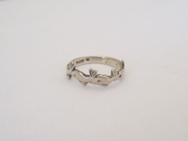 Vintage Sterling Silver Dolphins Band Ring Size 4 - $12.99