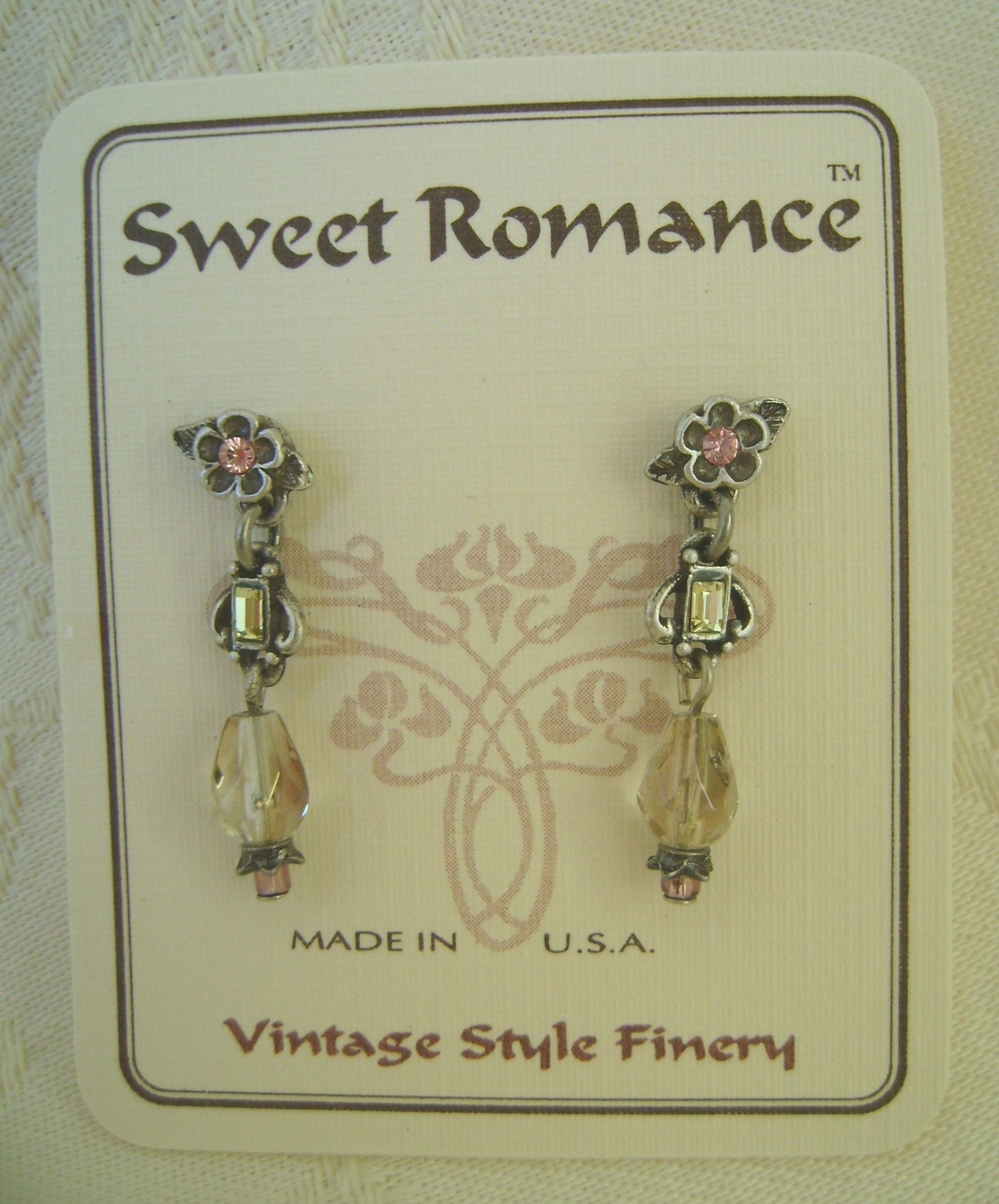 Earrings, Sweet Romance,  Darci Peridot, Post Back