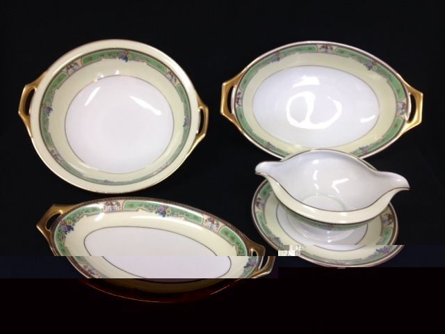 Thomas Bavaria  Emerald  Porcelain Dinnerware 4 Serving Pieces - $199.99 & Thomas Bavaria Dinnerware: 1 listing