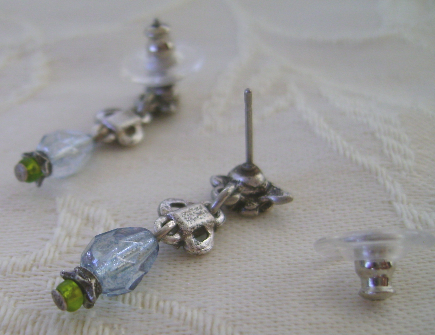 Earrings, Sweet Romance, Darci Clarit Aqua
