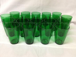20 pcs. Anchor Hocking FOREST GREEN Tumblers 8 ... - $89.99