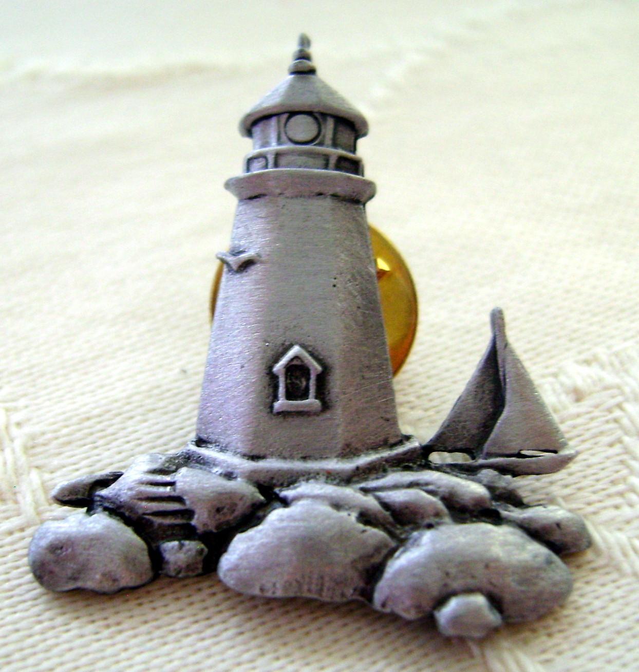 Pins, Set of 3 Tack Pin Lighthouses