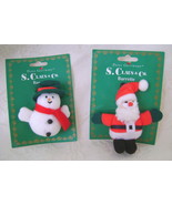 Barrettes, Santa and Snowman  - $13.00