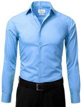 Berlioni Italy Men's Slim-Fit Premium French Convertible Cuff Solid Dress Shirt image 15