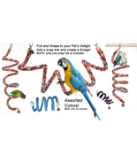 Rainbow Spiral Cotton Rope Bird Perch with Bell... - $25.50 - $39.95