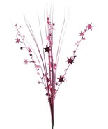 "12 BURGUNDY stems 21"" onion grass spray metallic pick with stars - $14.95"
