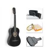 """38"""" Black Acoustic Guitar Starter Package (Guitar, Gig Bag, Strap, Pick) - $89.99"""