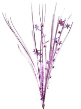 "12 PINK stems 21"" onion grass spray metallic pick with stars - $14.95"