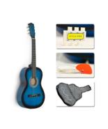 """38"""" Blue Student Acoustic Guitar Starter Package, Guitar, Gig Bag, Strap... - $89.99"""