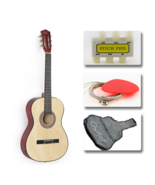 """38"""" Natural Beginners Acoustic Guitar Starter Complete Combo Package - $79.99"""