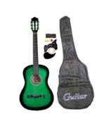 """38"""" GREEN Student Beginners Acoustic Guitar with Carrying Case & Accesso... - $79.99"""