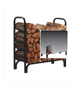 Firewood Rack 4 Foot with Fitted Cover Heavy Du... - $87.49