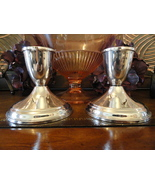 Crosby Sterling Silver Weighted Candle Holders Set of 2 - $60.00