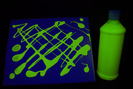 16oz Bottle Yellow UV Blacklight Reactive TEMPERA Paint - $16.95