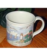 New England style CAPE COD Lighthouse Folk Art MUG - $19.76