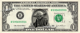YODA - Real Dollar Bill Star Wars Disney Cash Money Collectible Memorabi... - $8.88